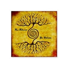 "As Above So Below Color Pri Square Sticker 3"" x 3"""