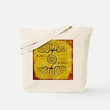 As Above So Below Color Print Tote Bag