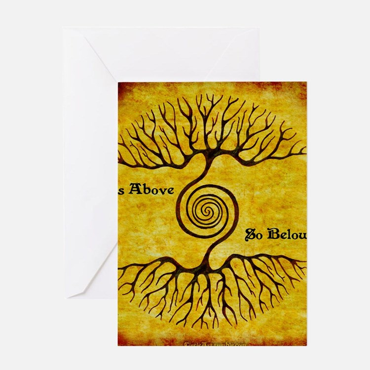 As Above So Below Color Print Greeting Card