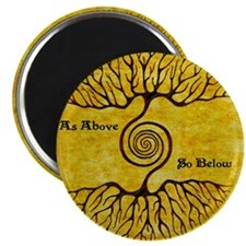 As Above So Below Color Print Magnet