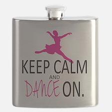 Keep Calm and Dance On Flask