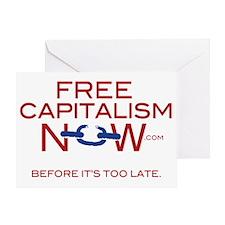 Official FreeCapitalismNow.com logo Greeting Card