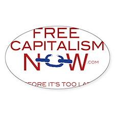 Official FreeCapitalismNow.com logo Decal