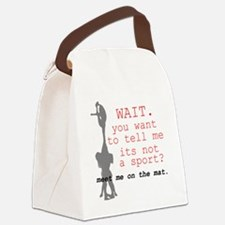 Meet Me on the Mat Canvas Lunch Bag