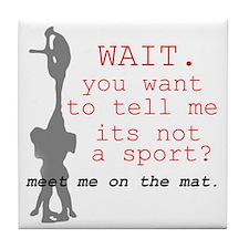 Meet Me on the Mat Tile Coaster