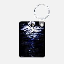 Swan post card Keychains