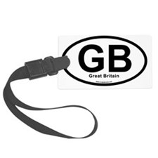 GB - Great Britain oval Luggage Tag