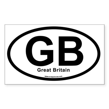 GB - Great Britain oval Sticker (Rectangle)