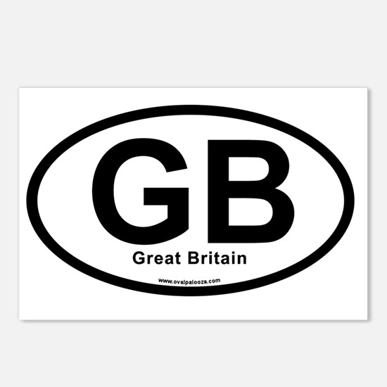 GB - Great Britain oval Postcards (Package of 8)