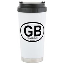 GB - Great Britain oval Travel Mug