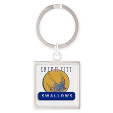Cream City Swallows Square Keychain