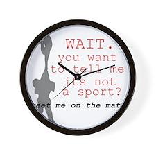 Meet Me on the Mat.  Wall Clock