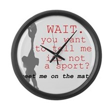 Meet Me on the Mat.  Large Wall Clock