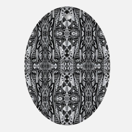 Adi Shoe Art Collage Oval Ornament
