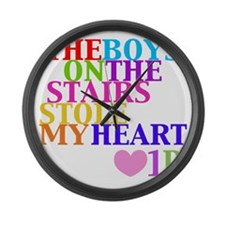 The Boys on the Stairs Stole My H Large Wall Clock