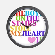 The Boys on the Stairs Stole My Heart Wall Clock