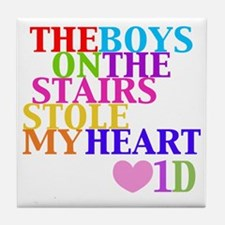 The Boys on the Stairs Stole My Heart Tile Coaster