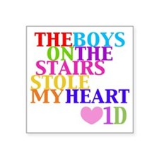 "The Boys on the Stairs Stol Square Sticker 3"" x 3"""