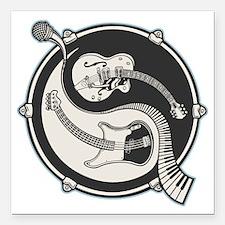 "yin-band-T Square Car Magnet 3"" x 3"""