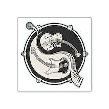 "yin-band-T Square Sticker 3"" x 3"""