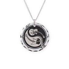 yin-band-T Necklace Circle Charm