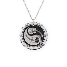 yin-band-T Necklace Circle Charm