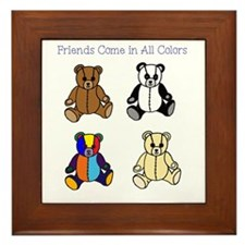 Friends Come in All Colors Framed Tile