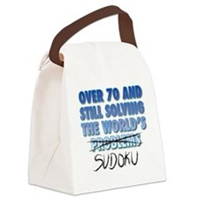 Solving the World's Sudoku Canvas Lunch Bag