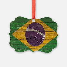 Wooden Wall Brazilian flag Ornament