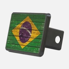 Wooden Wall Brazilian flag Hitch Cover