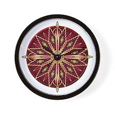 Native American Rosette 13 Wall Clock