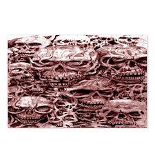 skull 7 dark merron Postcards (Package of 8)