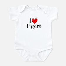 """I Love (Heart) Tigers"" Infant Bodysuit"