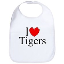 """I Love (Heart) Tigers"" Bib"