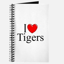 """I Love (Heart) Tigers"" Journal"