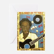 Robert Johnson Hell Hound On My Trai Greeting Card