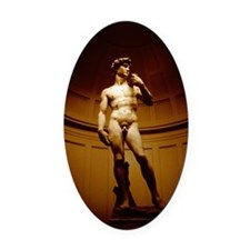 MICHELANGELOS DAVID STATUE, FLOREN Oval Car Magnet