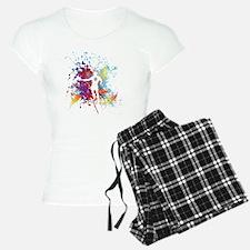 Color Splash Tennis Tshirt Pajamas