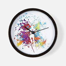 Color Splash Tennis Tshirt Wall Clock