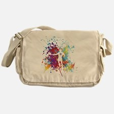 Color Splash Tennis Tshirt Messenger Bag