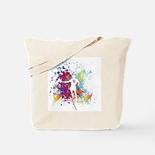 Color Splash Tennis Tshirt Tote Bag