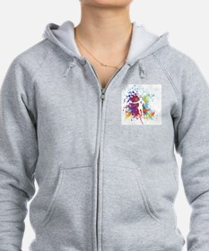 Color Splash Tennis Tshirt Zip Hoodie