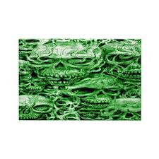 skulls 9  dark  ink  green shade  Rectangle Magnet