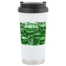 skulls 9  dark  ink  green shad Travel Mug