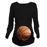 Pregnant basketball Dark Maternity Long Sleeves