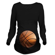BASKETBALL BELLY Long Sleeve Maternity T-Shirt