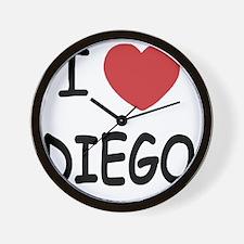 I heart DIEGO Wall Clock