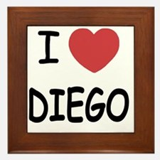 I heart DIEGO Framed Tile