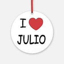 I heart JULIO Round Ornament