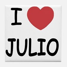 I heart JULIO Tile Coaster